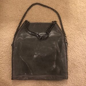 LEATHER CHAIN PURSE